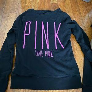 black love pink zip up